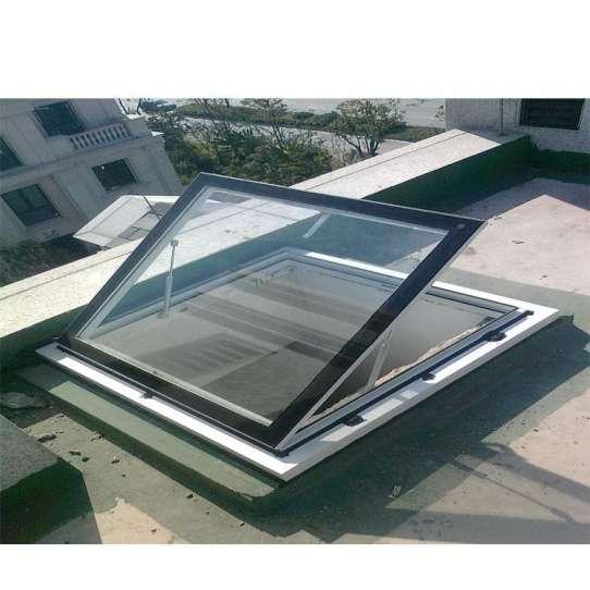 China WDMA Electric Motorized Aluminium louver Motor Skylight Roof Window Wth louver Design For House