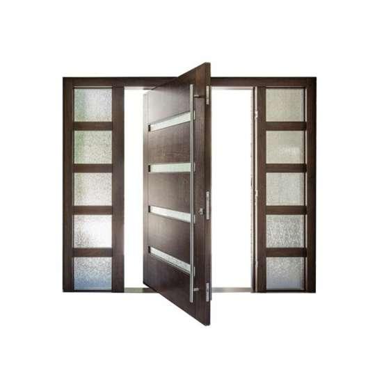 China WDMA Elegant Painted Surface Glass Wooden Pivot Entry Doors