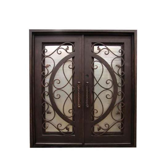 WDMA Elegant Safety Double Entry Main Door Window Wrought Iron Gates Designs