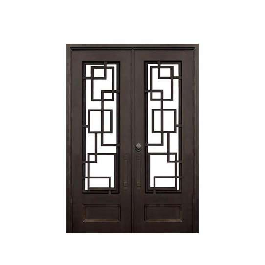 China WDMA Elegant Safety Double Entry Main Door Window Wrought Iron Gates Designs