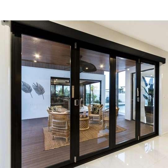 WDMA European Design Small Frame Aluminum Folding Doors For Bathroom Inside Doors