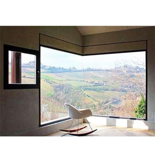 China WDMA European Style Building Outdoor Oval Window Shutter Price Aluminium Fixed Window Nigeria