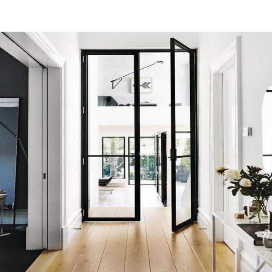China WDMA Exterior Aluminium Hinged Patio Doors Casement Doors External Aluminum Glazed Front French Glass Doors