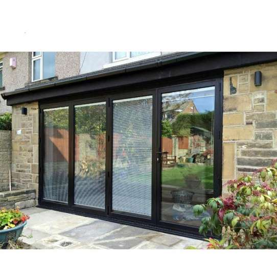 WDMA Exterior Drawing Room Aluminium Accordion Folding Glass Door System Price