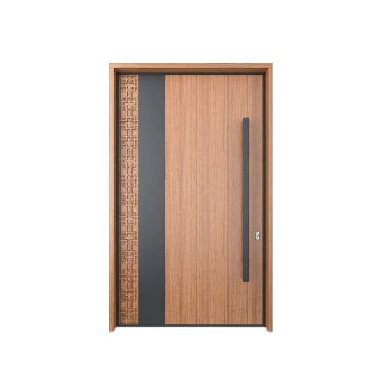 WDMA Exterior Solid Wood Large Entry Main Doors Home Pivot Design