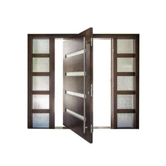 China WDMA Exterior Solid Wood Modern Pivot Main Door Entrance Door