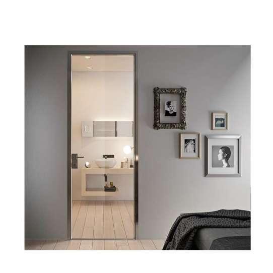 WDMA Fabrication Of Thermal Break Aluminum Door And Window System With Tempered Fireplace Glass Sauna Door Design