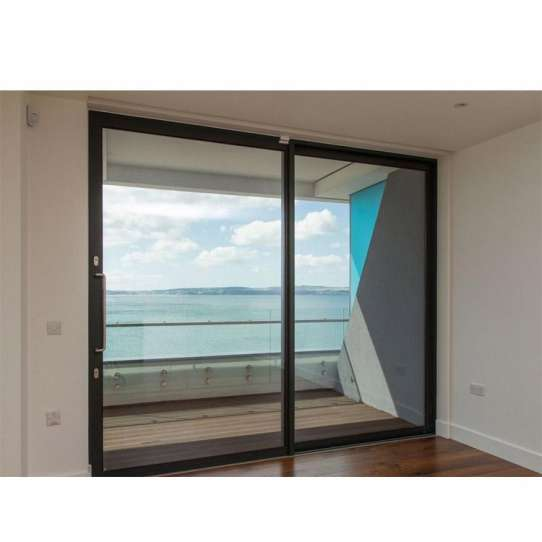 WDMA Finished Surface And Waterproof Aluminum Powder Coated Removing Auto Sliding Glass Door For Balcony