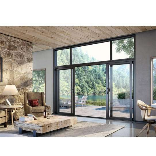 China WDMA Finished Surface And Waterproof Aluminum Powder Coated Removing Auto Sliding Glass Door For Balcony