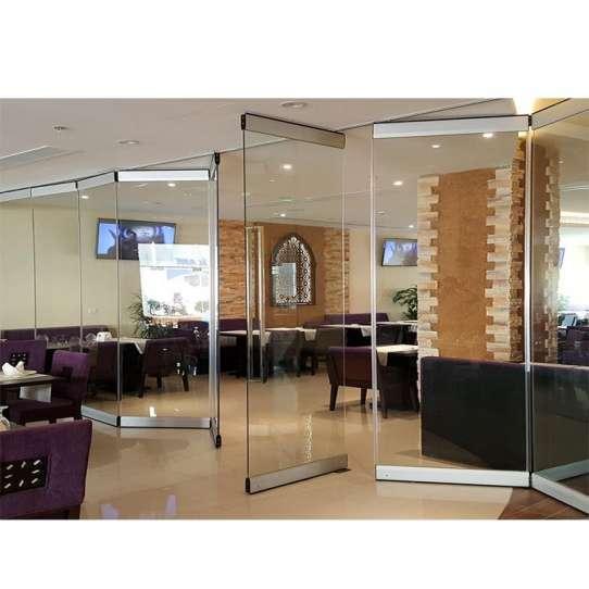 WDMA Frameless Glass Folding Doors