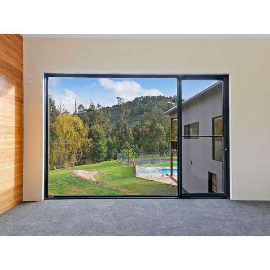 WDMA Frameless Sliding Vertical Window For Balcony Sashless Window