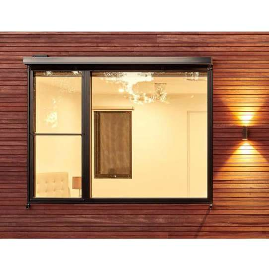 China WDMA Frameless Sliding Vertical Window For Balcony Sashless Window