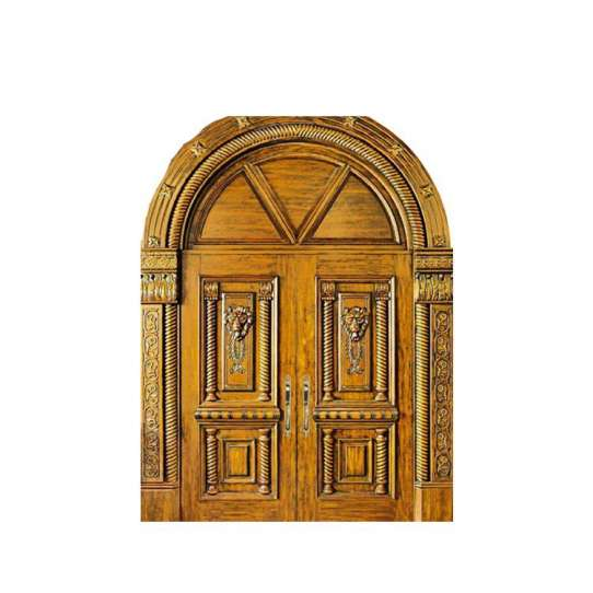China WDMA French Wooden Door Exterior Teak Wood Double Main Double Door Designs Wood Doors