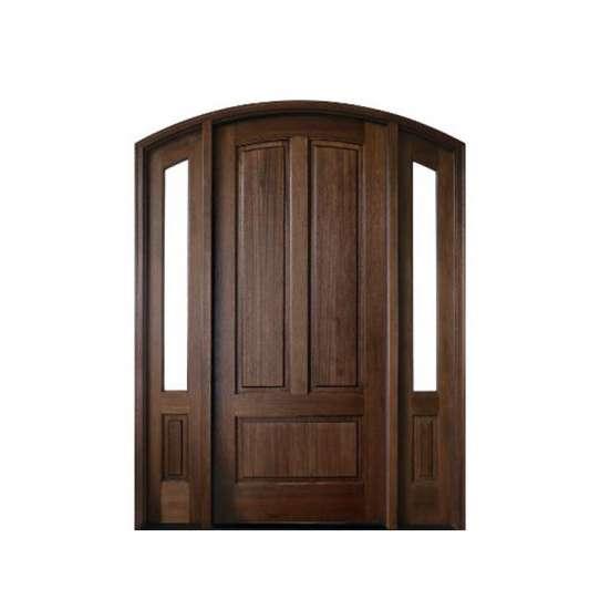 China WDMA French Wooden Door Wood Panel Main Exterior Double Door