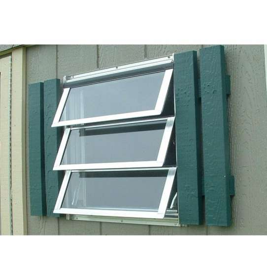 WDMA Global Building Projects Swing Open Small Window Frosted Double Glazed Aluminum Alloy Awning Door And Window