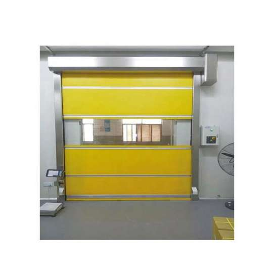 WDMA High Speed Fast Sprial Roll Up Pvc Stacking Doors Canvas Garage Door