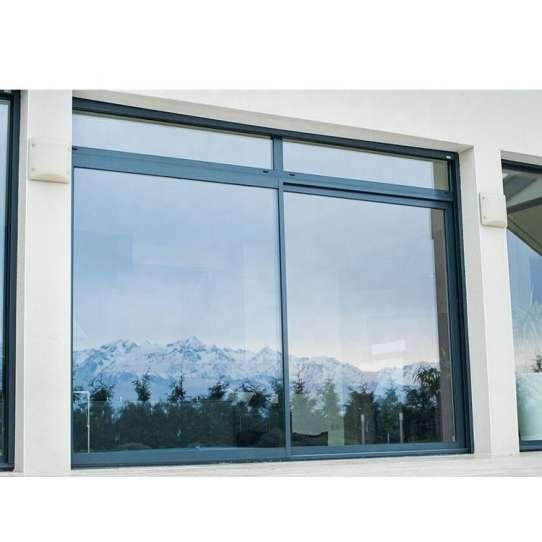 China WDMA Horizontal Pattern Three Panel Triple Pane Interior Metal Office Glass Sliding Window Design