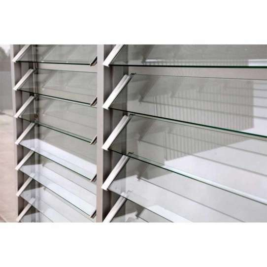 WDMA Hurricane Impact Round Aluminum Jalousie Shutter Window Door Frosted Glass In The Philippines