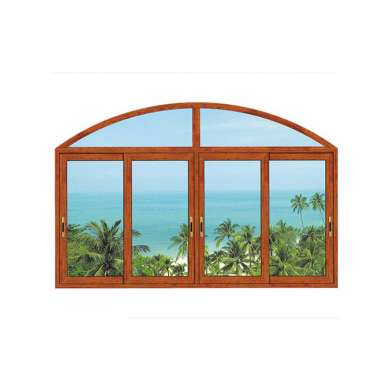 WDMA Hurricane Impact Wooden Color Aluminum Glass Jalousie Window In The Philippines