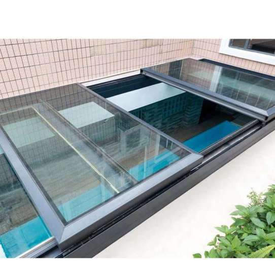 China WDMA Hurricane Proof Soundproof Double Glazed Tempered Glass Flat Skyview Roof Window And Door Balcony