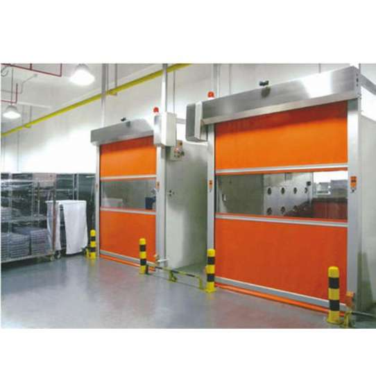 WDMA Industrial High Speed Remote Control Rolling Shutter Pvc Door