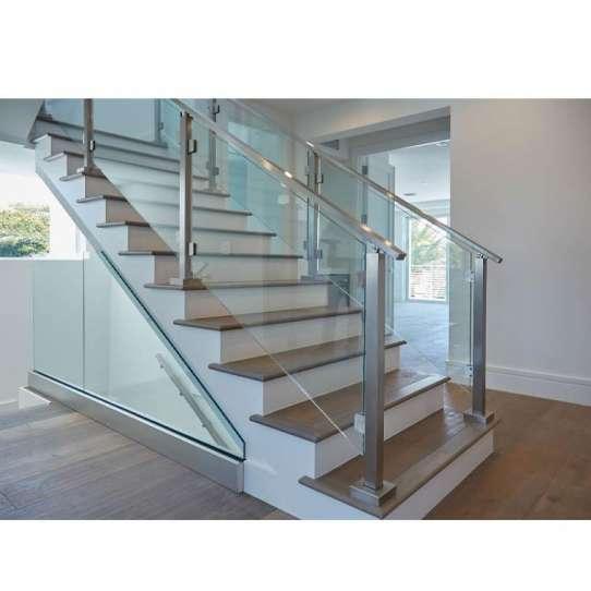 WDMA Interior Balcony Parapet Glass Railing Design Pictures Price