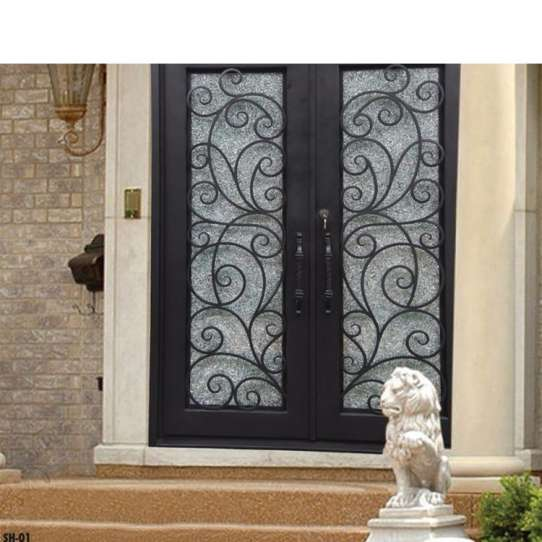 WDMA Wrought Iron Glass Interior Door