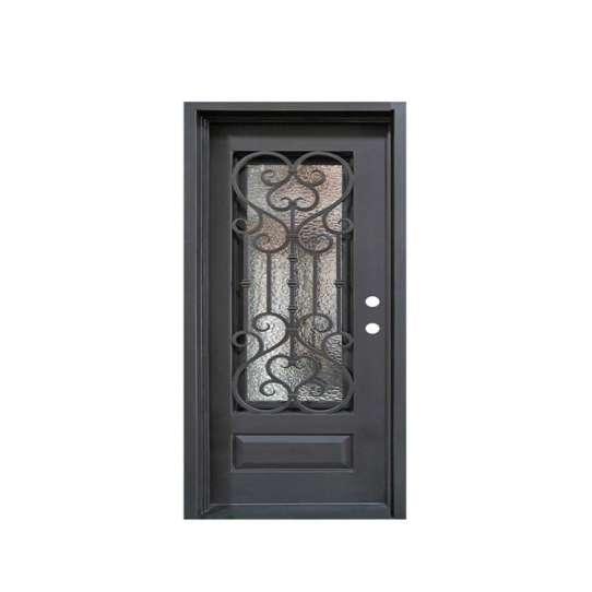 China WDMA Wrought Iron Glass Interior Door