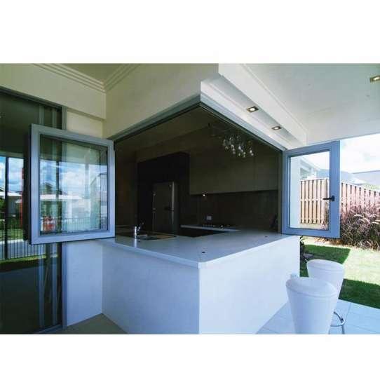 WDMA L Shaped Aluminium Sliding Balcony Window Door Folding Double Glazed For Home