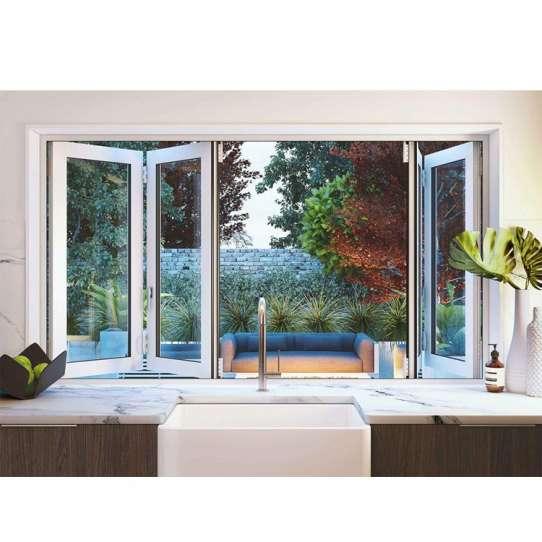 China WDMA L Shaped Aluminium Sliding Balcony Window Door Folding Double Glazed For Home