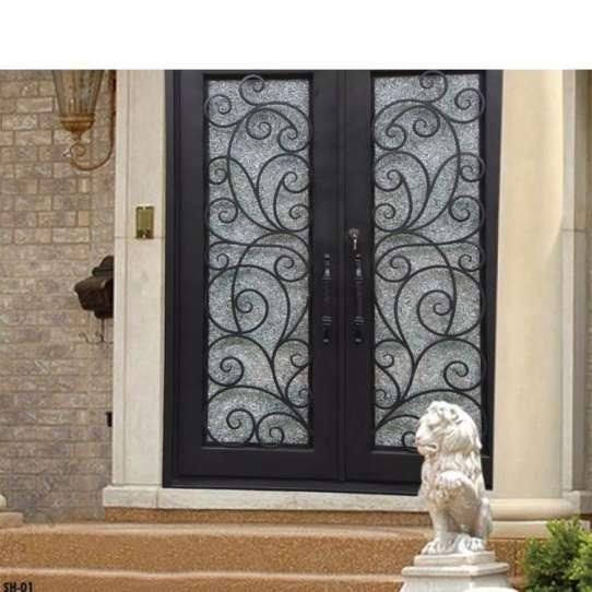 China WDMA door iron Steel Door Wrought Iron Door