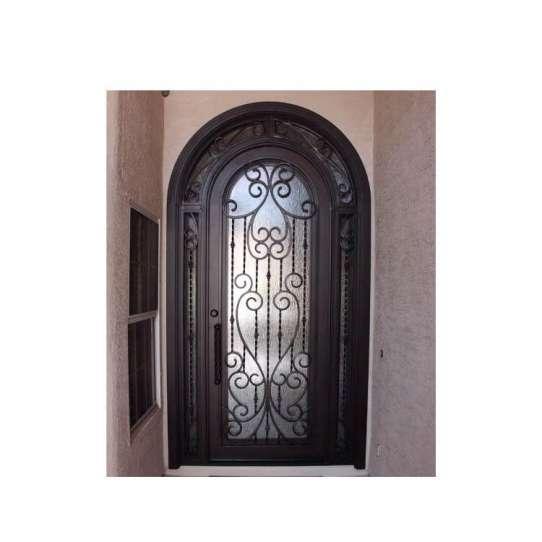 WDMA Latest Design Outdoor Villa Entrance Steel Iron Front Sliding Folding Glass Door Design