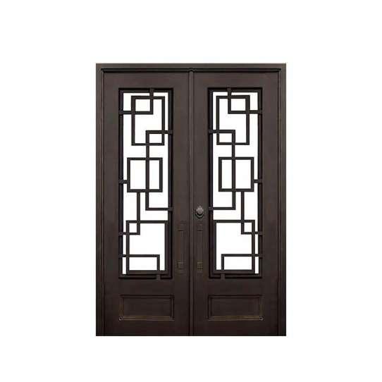 China WDMA iron folding door Steel Door Wrought Iron Door