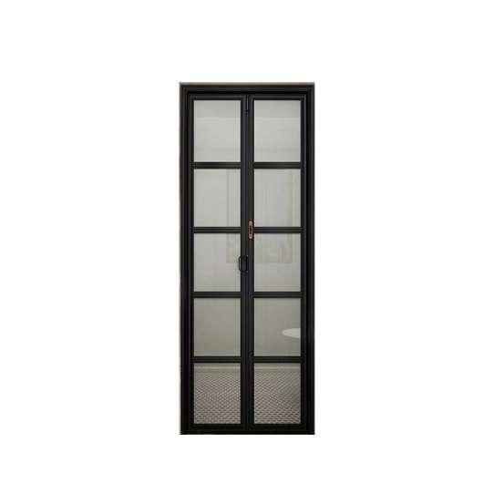 China WDMA Latest Designs Front Exterior Folding Door China Bi Fold Balcony Sliding Glass Door Design