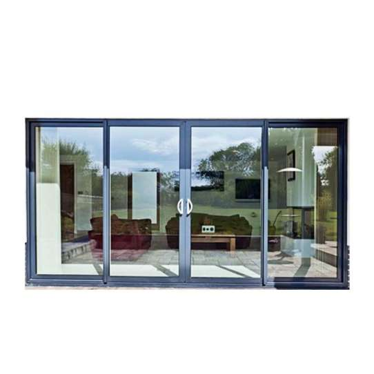 China WDMA Three Panel Sliding Glass Door