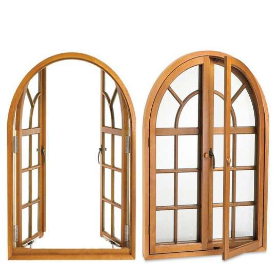 WDMA Grill Wooden Windows Aluminum
