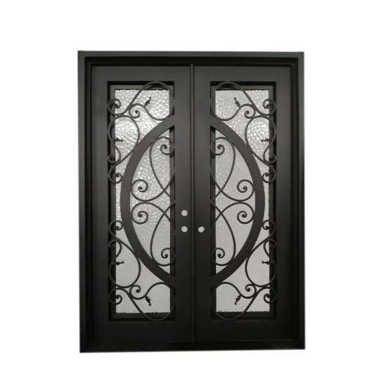 WDMA wrought iron storm doors
