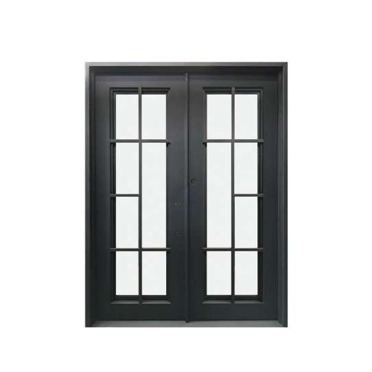 China WDMA Luxurious Import From China Single Entry French Door Storm Doors Wrought Iron Home Door Price