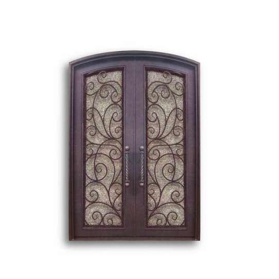 China WDMA wrought iron storm doors
