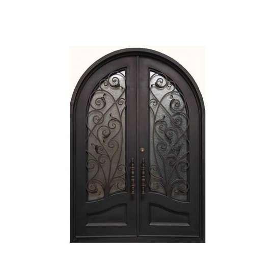 China WDMA wrought iron storm doors wrought iron single entry door