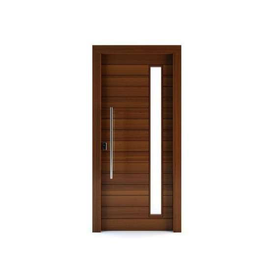 China WDMA Pivot Door Solid Wood
