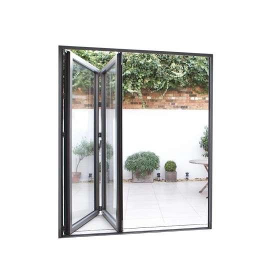 China WDMA Luxury Aluminium Frame 3 Panels Folding Sliding Patio Glass Door System