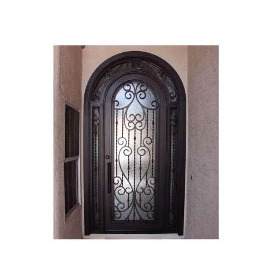 WDMA wrought iron and glass doors