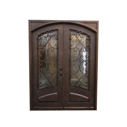 WDMA wrought iron and glass doors iron arch door