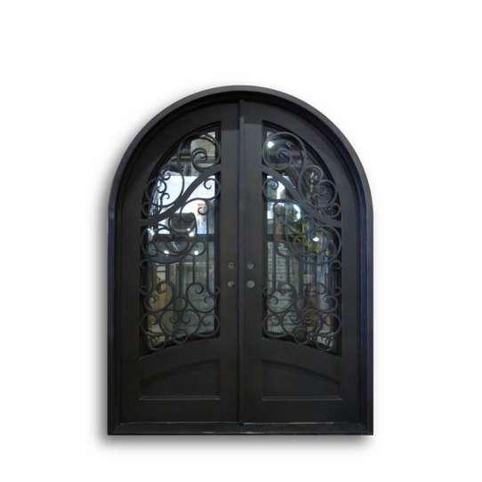 China WDMA wrought iron and glass doors iron arch door