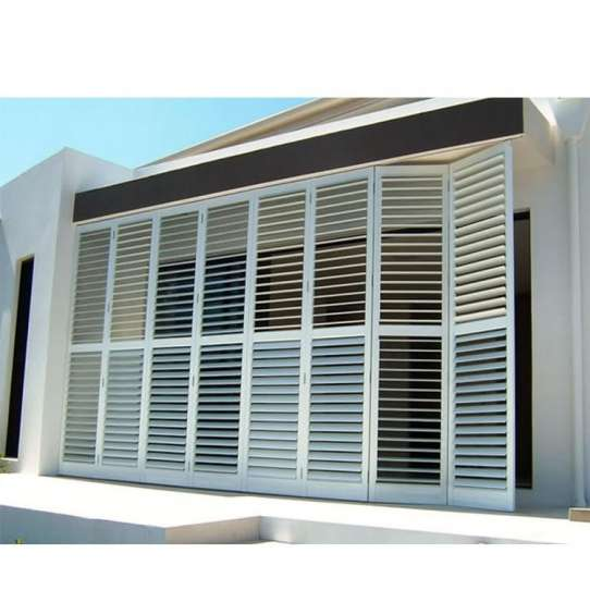 WDMA Malaysia Interior Aluminum Profile Frame Fixed Octagon Louver Window And Door Shutter