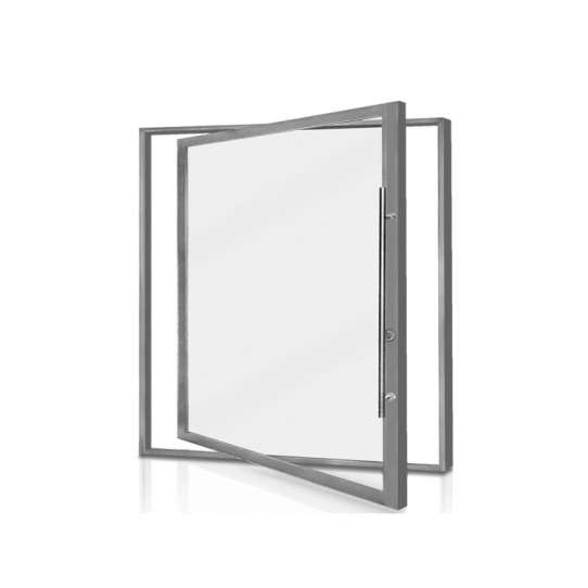 China WDMA Modern Aluminium Pivot Front Entry Doors Metal Aluminum Doors For Residential Entrance