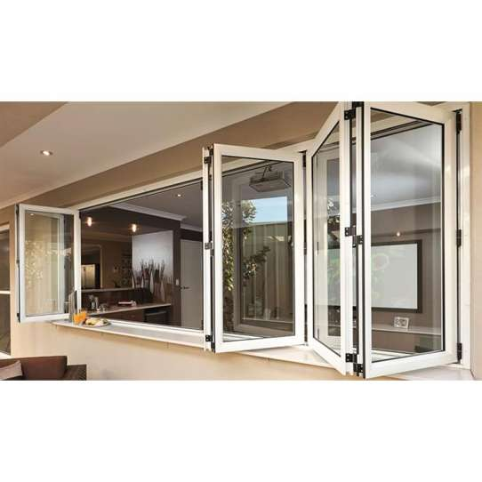 WDMA Modern Design Double Glass Accordion Commercial Glass Window Cost For Sale