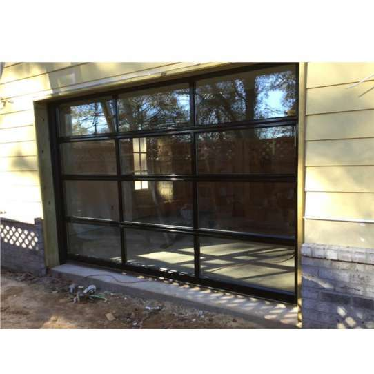 China WDMA Modern Design Easy To Install Aluminum Roll Up 9x8 Folding Cheap Frosted Glass Garage Door