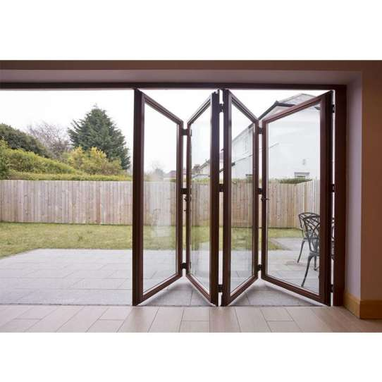 WDMA New Design Manufacturer Customized Modern Exterior Foldable Glass Aluminium Bi-Folding Door